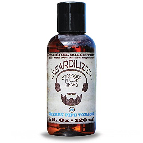 Beardilizer ® Beard Oil Collection - #5 Cherry Pipe Tobacco 4 Oz - Made with 100% Natural Ingredients