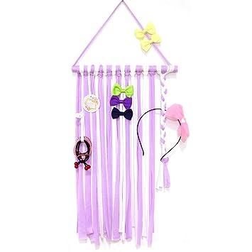 2pcs Kids Girl Hair Bow Grosgrain Ribbon Baby Hair Clip Holder Storage Organizer