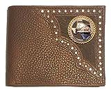 Custom Texas Praying Cowboy Church Bi-fold Wallet Hair on Hide Brown