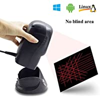 HBA Automatic Barcode Scanner Omnidirectional USB High Speed Laser Desktop 1D Bar Code Reader Hands-Free with 2M USB Cable