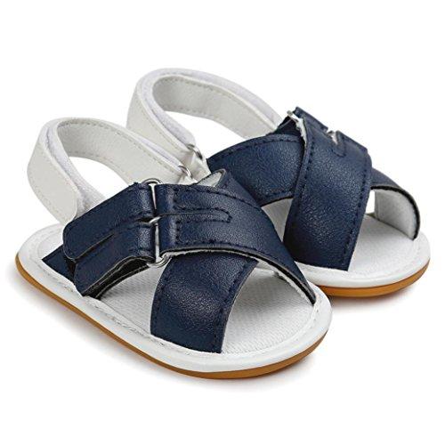 BZLine® Baby jungen Sandalen Kleinkind Neugeborene Sandalen Schuhe Blau