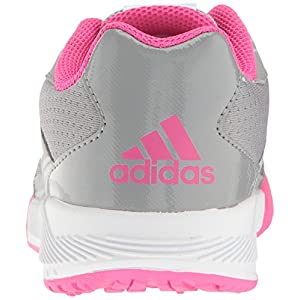 adidas Originals Unisex-Kids Altarun K Sneaker, Mid Grey, FTWR White, Shock Pink s, 5 M US Big Kid