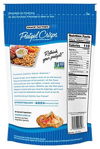 Snack Factory Pretzel Crisps, Original, 7.2 Ounce Bags (Pack of 12)