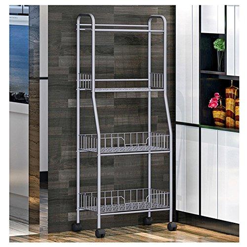 YAONIEO 4-Tiers Heavy Duty Kitchen Storage Bakers Organizer Rack Utility Shelves 18.89'' L x 13.78'' W x 47.6'' H Silver Grey by YAONIEO (Image #2)