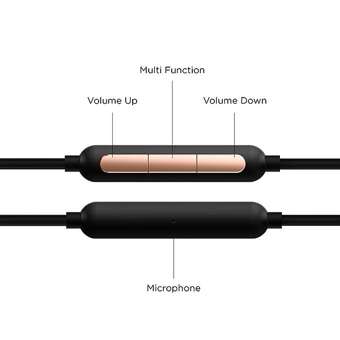 1MORE Triple-Driver HiFi Auriculares In-ear Hi-Res Audio con Cable Integrado de Control Remoto y Micrófono para iPhone y Android Teléfono móviles,E1001 Oro: ...