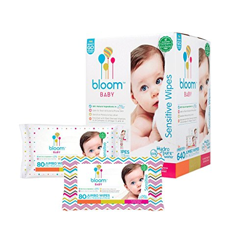 Baby Wipes by bloom BABY | Unscented | For Sensitive Skin | Formulated for Diaper Area | Water-Based | Infused with Plant-Derived Vitamins | Hypoallergenic | Textured & Thick 8