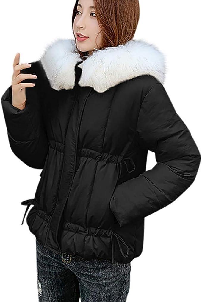 URIBAKY Schöne Steppjacke Hoodie Damen Übergangsjacke Warmer