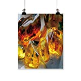 Home Decor Raw,Natural Baltic Amber. Art Wall Art for Room,20' W x 32' L/1pc(Frameless)