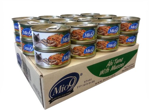 Mio9 Delicious Cat Food Ahi Tuna with Mussel 3oz Can, 24-Pack