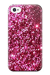 Top Quality Case Cover For Iphone 4/4s Case With Nice Glittery Pink Red Appearance