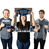 Big Dot of Happiness Grad Keys to Success - 2018 Graduation Party Selfie Photo Booth Picture Frame & Props - Printed on Sturdy Material
