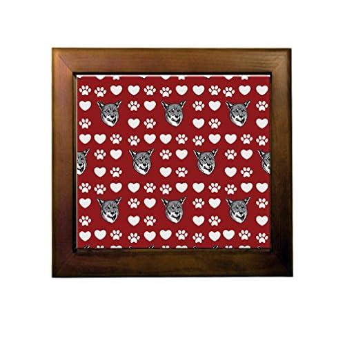 on sale Jamthund Dog Red Paw Heart Ceramic Tile Backsplash Accent Mural