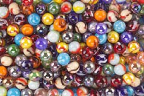 - 500 Count Bulk Assorted Premium Player Glass Mega Marbles Toy