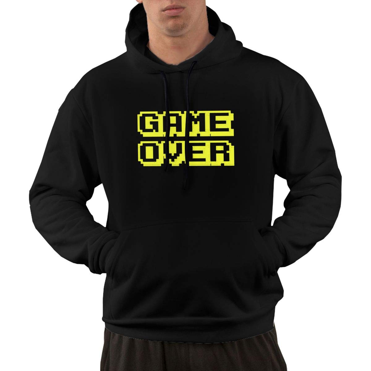 VANMASS Mens Game Over Long Sleeve Pullover Hoodie Sweatshirt