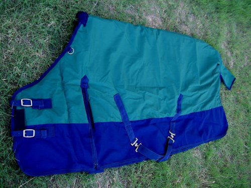 81 inches CHALLENGER 1000D Turnout Horse Winter Heavy Waterproof Blanket Green 6123