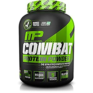 MusclePharm Combat Powder Advanced Time Release Protein, Chocolate Milk, 4 Pound