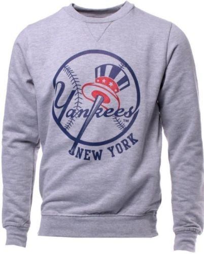 Majestic New York Yankees MLB Licensed Gray Jameson Sweatshirt Men Big Sizes (4XL)