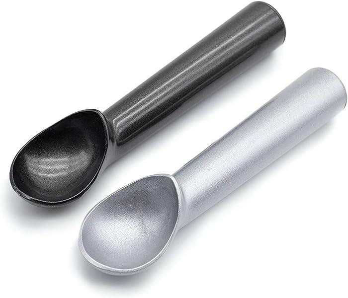 HansGo Ice Cream Scoop, 2PCS Nonstick Anti-Freeze Ice Cream Scooper One Piece Aluminum Design Dishwasher Safe