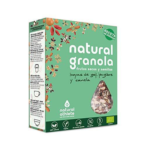 Granola -Natural Athlete- Desayuno con frutos secos y semillas - 100% natural, sin azúcar refinado. Pack 4x325gr (Cacao, coco y quinoa): Amazon.es: ...