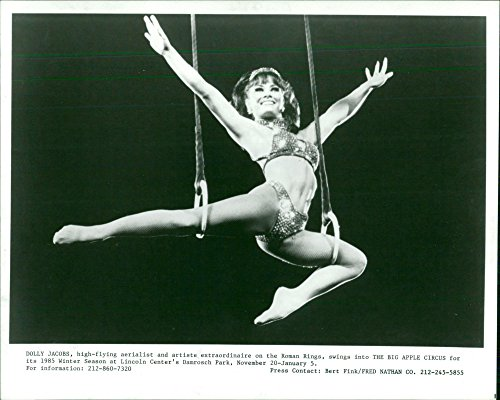 Vintage photo of Dolly Jacobs performs at The Big Apple Circus