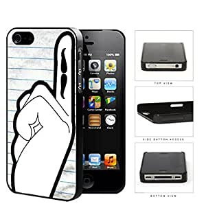 Students Hand Raised With Mustache On Finger Hard Plastic Snap On Cell Phone Case Apple iPhone 4 4s