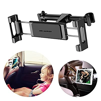 Car Headrest Mount,Digi Marker Car Seat Phone and Tablet Holder for iPad/Samsung Galaxy Tabs/Amazon Kindle Fire HD/Microsoft Surface and iPhone 8/iPhone 8 Plus/iPhone X/Samsung S9/S8/S7/Note 8
