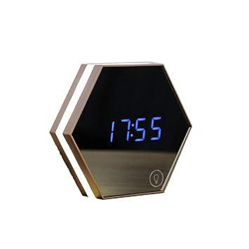 Seis esquina Radio Reloj Despertador Despertador Digital infantil, Alarm Clock Despertador con pantalla LED,