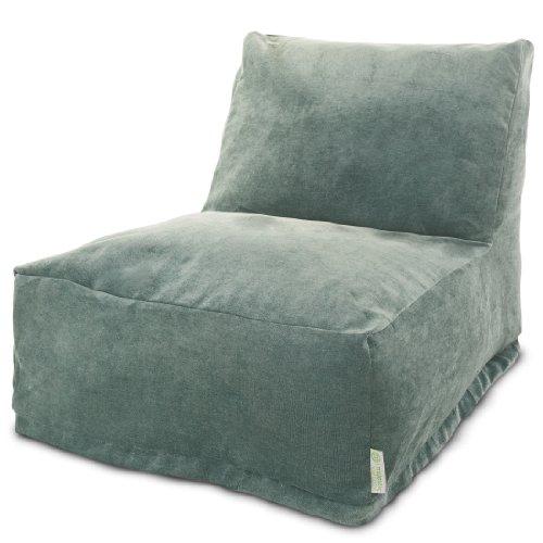 Majestic Home Goods Villa Azure Bean Bag Chair Lounger - Velvet Bean Bag