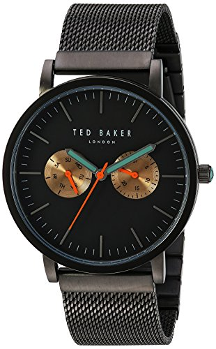 Ted Baker Men's Smart Casual Japanese-Quartz Watch with Stainless-Steel Strap, Grey, 20 (Model: 10031186)