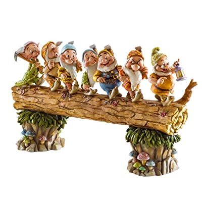"""Enesco Disney Traditions by Jim Shore Snow White and the Seven Dwarfs Heigh-ho Stone Resin Figurine, 8.25"""""""