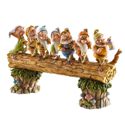 ions by Jim Shore Snow White and the Seven Dwarfs Heigh-ho Stone Resin Figurine, 8.25