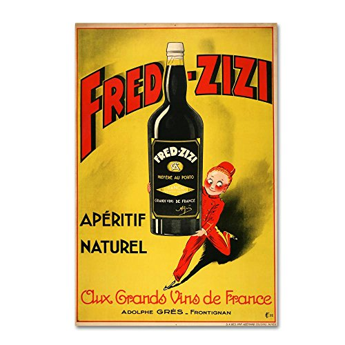 47 Aperitif - Trademark Fine Art Fred Zizi by Vintage Apple Collection, 30x47-Inch Canvas Wall Art