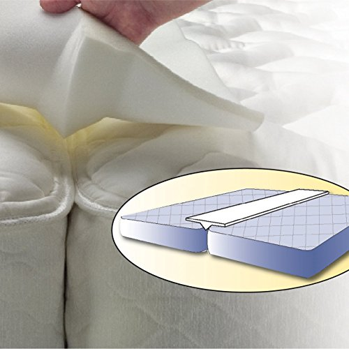 dge Pad - Transform Two Twin Mattress Beds into a King Size Bed (Bed Rail Wedge Pads)
