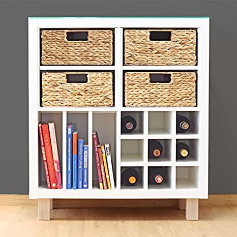 INWONA Juego de 4 estantería Cesta para Halbes Compartimento IKEA Kallax./Jacinto de Agua 31 x 34 x 15 cm