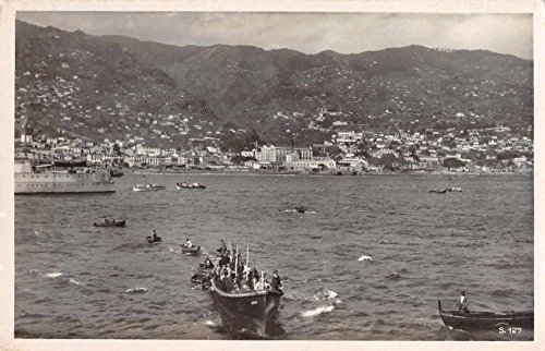 - Funchal Madeira Panorama View Real Photo Antique Postcard J65775