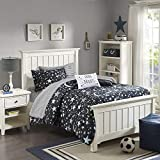 JLA Home INC Mi Zone Kids Starry Night Full Comforter Sets for Girls - Black, Stars - 8 Pieces Kids Girl Bedding Set - Ultra Soft Microfiber Childrens Bedroom Bed Comforters