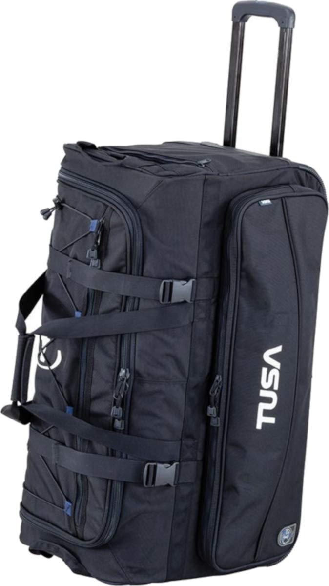 TUSA Dive Gear Roller Duffle Bag in Black