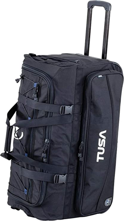 62393e29b8 Amazon.com  TUSA - Dive Gear Roller Duffle Bag in Black  Sports   Outdoors