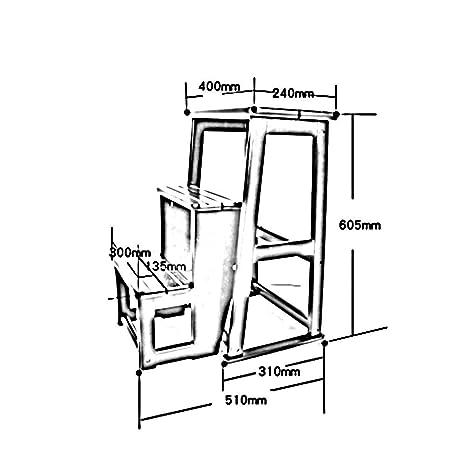 Amazon Com Gjd Solid Wood Non Slip Folding Stair Stools Multi