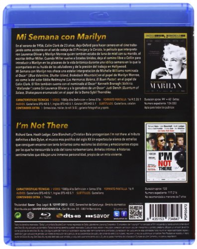 Pack: Mi Semana Con Marilyn + I'm Not There