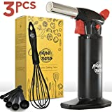 Butane Torch - Kitchen Torch - Blow Torch - Culinary Torch - Creme Brulee Torch -Cooking Torch - Dab Torch - Food Torch - Blowtorch - Torch For Creme Brulee - Aluminum - Refillable - Adjustable Flame