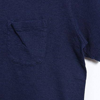 4c917715b44a Amazon | バーンズ アウトフィッターズ BARNS OUTFITTERS 吊り編み 天竺 ポケット V ネック 半袖 Tシャツ |  Tシャツ・カットソー 通販