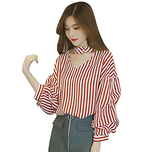 Dainzuy Ladies Sexy Casual Tops,Women's Long Sleeve Button-Down