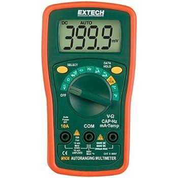 Extech MN36 Digital Mini MultiMeter - Multi Testers