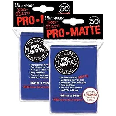 Ultra Pro PRO-Matte Standard Deck Protectors, Pack of 100, Blue: Toys & Games