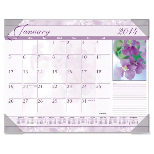 Visual Desk Pad Organizer - AT-A-GLANCE Visual Organizer Victorian Floral Monthly Desk Pads (AAGDMD13532)