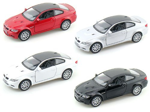 Set of 4: BMW M3 Coupe 1:36 Scale (Black,Red,Silver,White) (Bmw M3 Model compare prices)