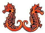 Nipitshop Patches Orange Seahorse sea Horse Fish