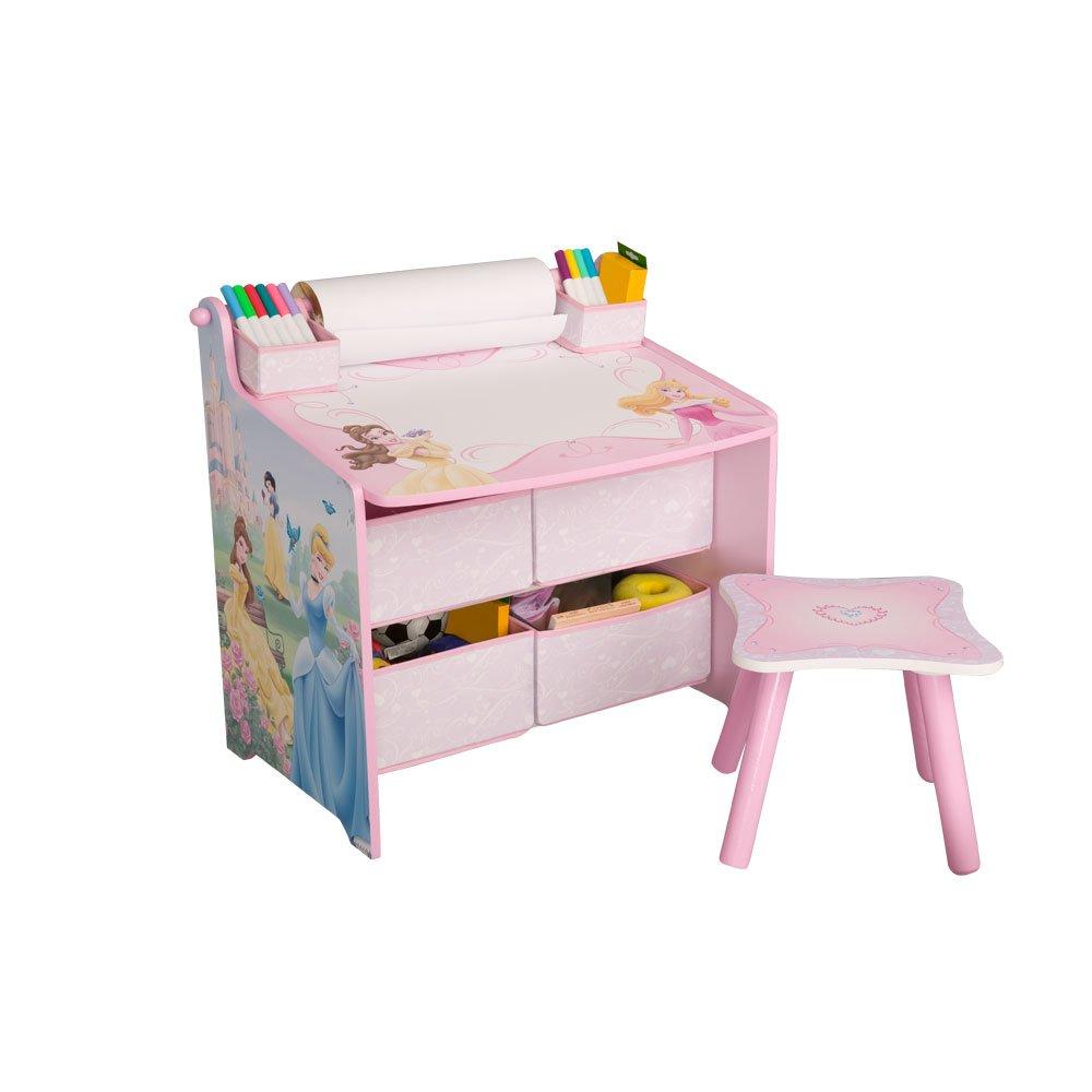 Amazon.com: Disney Princess Art Table with Paper Roll, Wipe Board ...