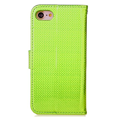 EKINHUI Case Cover IPhone 7 Fall, helle Oberflächen-Normallack-PU-lederner Fall-horizontale Schlag-Standplatz-Fall-Abdeckung mit Halter-Fotorahmen-Mappen-Karten-Schlitzen für Apple IPhone 7 ( Color :